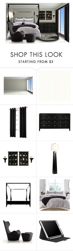 """""""Black & White"""" by denisewood ❤ liked on Polyvore featuring interior, interiors, interior design, home, home decor, interior decorating, Sun Zero, DVI and Speck"""