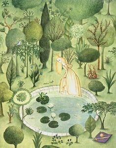 Marlenka Stupica: Trnuljčica (ilustracija iz pravljice Jakoba in Wilhelma Grimma), 1988