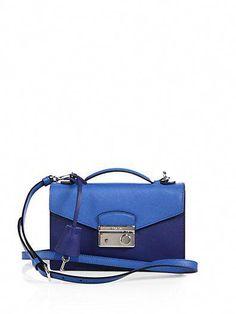 a91507283d18 Prada - Saffiano Lux Bicolor Crossbody Bag - Saks.com  Pradahandbags
