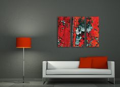 red canvas art