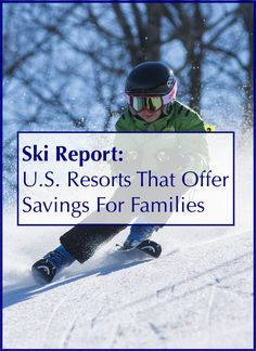 These ski resorts across the U. offer kids-ski-free deals and other discounts for families planning winter vacations. Winter Family Vacations, Ski Vacation, Family Vacation Destinations, Family Travel, Family Ski, Vacation Ideas, Travel Destinations, Ski Packages, California With Kids