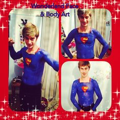 Superman body paint