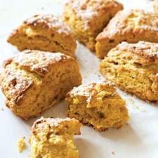 Harvest Pumpkin Scones: King Arthur Flour. I can try those new Nestle Pumpkin Chips I bought.