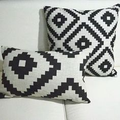 linen pillow cover aztec pillow cover 18 x 18 black u0026 white pillow cover