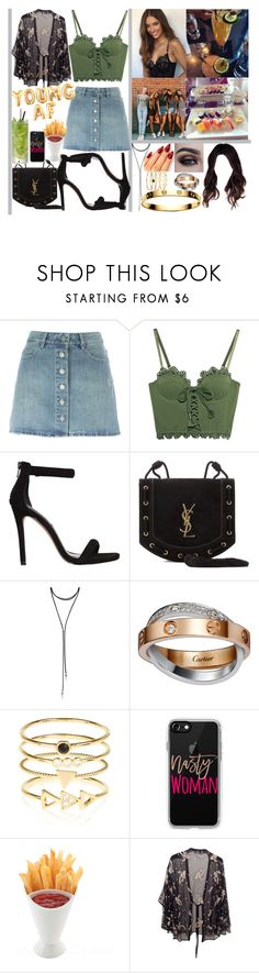 """""""YOUNG AF💥"""" by momochen95 ❤ liked on Polyvore featuring Étoile Isabel Marant, Puma, Steve Madden, Yves Saint Laurent, Garcia, Forever 21, Cartier, Accessorize, Casetify and Twin-Set"""