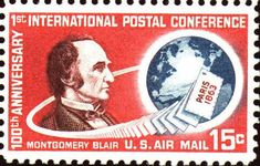 Image of Airmail stamp, C66