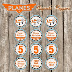 Disney Planes Cupcake Topper  PartyCircles  by LittleMsShutterbug, $6.00