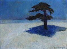 "thunderstruck9: ""Arthur Bianchini (Swedish, 1869-1955), Den ensamma tallen [The solitary pine]. Oil on canvas, 35 x 47 cm. """