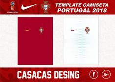 CAMISETA PORTUGAL MUNDIAL RUSIA 2018 Soccer Outfits, Portugal, Templates, Russia, Soccer Equipment, Stencils, Vorlage, Models, Football Outfits