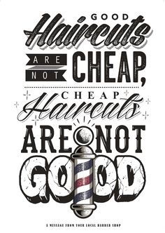 GOOD CUTS – Typography and texture.