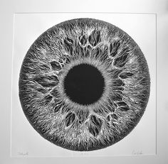 "Illusion: I have very little information about the artist. What I know is Orr Gidon made this detailed lino print titled, ""Telepath."" Artwork © Orr Gidon Via Orbs of Light."