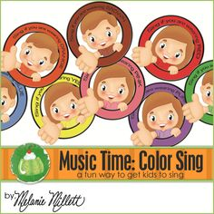Music Time - Color Sing - Hold up a color and all the kids wearing that color sing..hold up more than one color to have more kids sing
