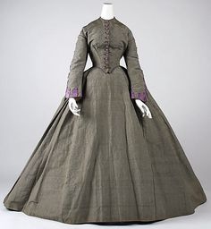 1860 vestido de tarde
