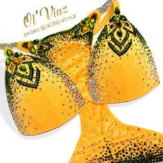 NPC,IFBB,WBFF Luxury Yellow Velvet Competition Bikini with Crystals/Competition Suit/Posing Suit/Rhinestone Fitness Bikini Workout, Workout Wear, Bikini Fitness, Swimwear Fashion, Bikini Fashion, Figure Competition, Swimsuit Competition, Wbff Bikini, Figure Suits