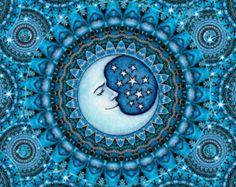 Sun Celestial Art Print Signed by Artist Dan Morris titled