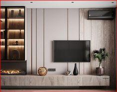 Living Room Wall Units, Living Room Tv Unit Designs, Home Living Room, Interior Design Living Room, Modern Interior, Casa Gaudi, Home Room Design, House Design, Modern Tv Room