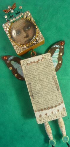 "Altered Art Expression Doll - ""Butterfly Queen"" by Mary Jane Chadbourne/Desert Dream Studios"