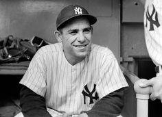 Yogi Berra at Yankee Stadium in 1956