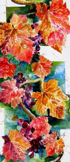 wine tattoo? Grapes & leaves