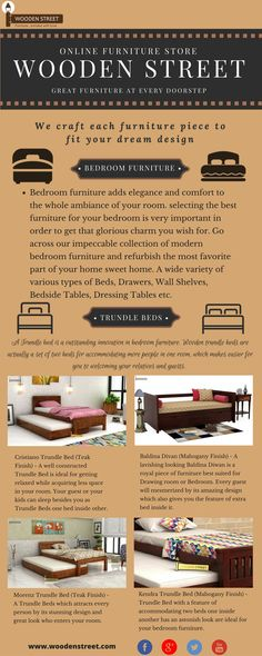 Trundle Beds – Give your bedroom a posh and stylish look with King Size Trundle Bed. Order today @ Wooden Street and get discount. Wooden Daybed With Trundle, Trundle Beds, Wooden Street, Beds Online, Online Furniture Stores, Kid Beds, King Size, Bedroom Furniture, Stylish