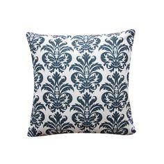 """Zwarte Marokkaanse damast kussen Cover, aqua blauw 18 """"x 18"""" decoratieve kussen dekken gooien kussen Couch Sofa kussen Accent kussen 179"""