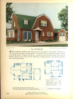 The DICKMAN - Home Builders Catalog: plans of all types of small homes by Home Builders Catalog Co.  Published 1928