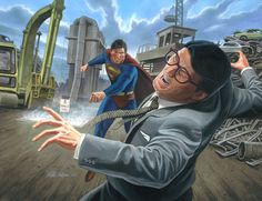 Evil Superman vs. Clark Kent  Final by Habjan81.deviantart.com on @deviantART