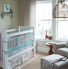 darling nursery room // Carousel Designs #baby #nursery #sweet