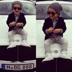little girl / boys fashion fashion Kids fashion / swag / swagger / little fashionista Baby u got swag! Little Man Style, Little Kid Fashion, Baby Boy Fashion, Toddler Fashion, Kids Fashion, Baby Style, Baby Swag, Cool Baby, Baby Outfits