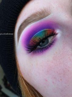 Colorful Eye Makeup, Eye Makeup Art, Eyebrow Makeup, Makeup Eyeshadow, Eyeliner, Hair Makeup, Eyeshadows, Eyebrows, Makeup Goals