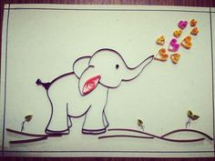 Inbox to Order! Quilling - Elephant hearts