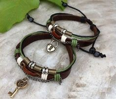 Couples Bracelets Set His and Hers Bracelets by WearingPretty, $15.99