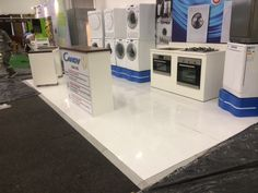 White painted floor for Homemakers Expo 2014