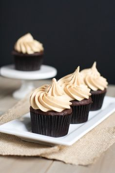 chocolate cupcakes with biscoff buttercream
