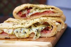 Stromboli-I will never make this but it looks amazing!
