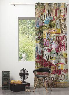 Collection tissu SCENARIO : référence Graffiti #caselio #scenario #tissu #tissus #rideaux #imprimé #panoramique #graffiti #tags