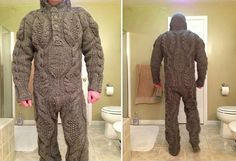 Artist unknown. I feel that this full body knitted suit relates to what a body is by showing how humans and clothing interact. Bodies are also carries of clothing to cover from exposure. 1/21/2014
