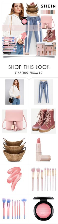 """""""pink houses"""" by bonnie-wright-1 ❤ liked on Polyvore featuring Lipstick Queen, Clinique and MAC Cosmetics"""