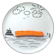 Toy plates by Boguslaw Sliwinski.