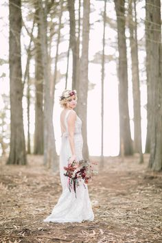 Photography: Retrospect Images - retrospectimages.com  Read More: http://www.stylemepretty.com/california-weddings/2015/01/09/enchanted-forest-bridal-inspiration/