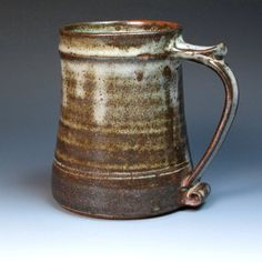 St Ives Leach Pottery One Pint Tankard or Mug. by MugsMostly