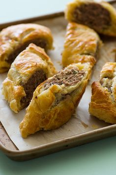 Our Australian Lamb & Sausage Roll is the perfect snack. It is basically a meat pie, and we used lamb and mild Italian pork Sausage. Lamb Recipes, Snack Recipes, Cooking Recipes, Snacks, Bulk Cooking, Irish Recipes, Crescent Rolls, Empanadas, Australian Food