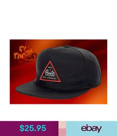 01d79991ad7dc Hats Brixton Cue Black Mens Snapback Cap Hat  ebay  Fashion