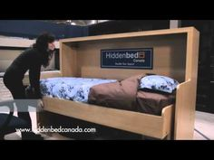 Hiddenbed Canada - Unique 2-in-1 Desk-Bed - Better than a Murphy Bed!
