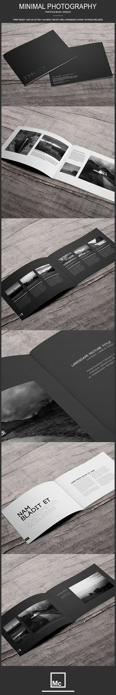 40 Page Minimal - Photography Portfolio Book by…