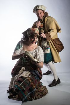 """Brian Vaughn as the Baker and Tina Scariano as Cinderella in Utah Shakespeare Festival's 2014 production of """"Into the Woods."""" (Photo by Karl Hugh. Copyright 2014 Utah Shakespeare Festival.) www.bard.org"""