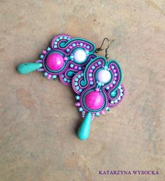 Check out our dangle & drop earrings selection for the very best in unique or custom, handmade pieces from our shops. Tassel Earrings, Beaded Earrings, Statement Earrings, Boho Jewelry, Jewelery, Fashion Jewelry, Shopkins, Soutache Necklace, Quilling Jewelry