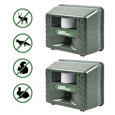 Aspectek  Upgraded Powerful Yard Sentinel Outdoor Ultrasonic Animal Control Pest Repeller  Deer Cats Dogs Mice Repellent Eliminator Pest Control 2 Pack Including AC Adapter Extension Cord ** Check out the image by visiting the link.
