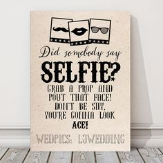 Personalised A4 Photo Booth Selfie Sign Wedding Party Props BUY 2 GET 1 FREE (S)