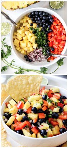 Blueberry Pineapple Salsa Recipe